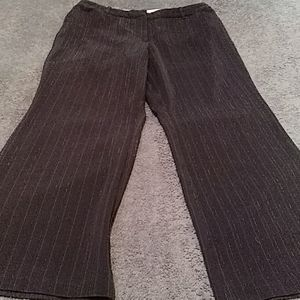 Worthington business trousers black/red pinstripes